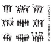 crowd vector icon set | Shutterstock .eps vector #311669174