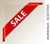 sale   red corner ribbon  ... | Shutterstock .eps vector #311672564