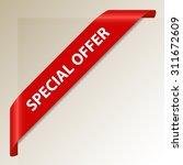 special offer   red corner... | Shutterstock .eps vector #311672609