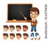 set of cartoon teacher... | Shutterstock .eps vector #311674634