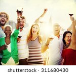 friends friendship celebration... | Shutterstock . vector #311680430