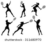 vector illustration of a six... | Shutterstock .eps vector #311680970