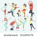 various people characters... | Shutterstock .eps vector #311694170