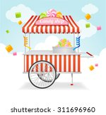 Farmers market business card free vector art 26605 free downloads candy cart market card sale of sweets and candies on the street vector illustration agricultural exhibition business colourmoves