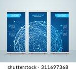 roll up banner stand design... | Shutterstock .eps vector #311697368