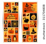 happy halloween banner. color... | Shutterstock .eps vector #311704808