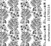 vintage vector hand drawn... | Shutterstock .eps vector #311705114