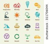 global warming elements  vector ... | Shutterstock .eps vector #311706044