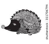 the hedgehog graphic design | Shutterstock .eps vector #311706794