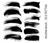abstract black long gouache... | Shutterstock .eps vector #311707766