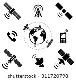 Set Of Wireless Satellite...
