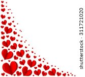 frame of red hearts on... | Shutterstock .eps vector #311721020
