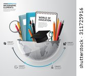 world of education concept... | Shutterstock .eps vector #311725916