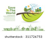 eco friendly  green energy...   Shutterstock .eps vector #311726753