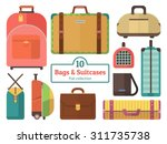 bags and suitcases collection.... | Shutterstock .eps vector #311735738