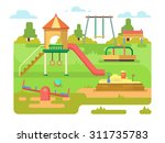 children's playground with... | Shutterstock .eps vector #311735783