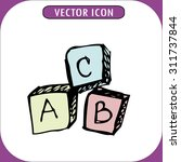 toy cube icon abc  hand drawn ... | Shutterstock .eps vector #311737844