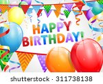 happy birthday background | Shutterstock . vector #311738138