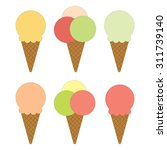 set of different ice creams... | Shutterstock . vector #311739140