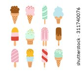 collection of 12 vector ice... | Shutterstock .eps vector #311740076