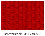 vector red silk curtain in the...