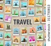 vacation  travel. historic... | Shutterstock .eps vector #311750813