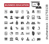business education black... | Shutterstock .eps vector #311753138