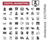 digital marketing black... | Shutterstock .eps vector #311753960