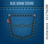 Jeans Blue Texture Fabric With...