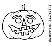 hand drawn jack o lantern | Shutterstock .eps vector #311763548