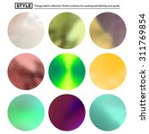 set of colorful blurred round... | Shutterstock .eps vector #311769854