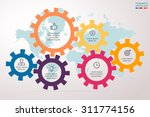 infographics step by step in... | Shutterstock .eps vector #311774156