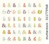 vector set of colored... | Shutterstock .eps vector #311775968