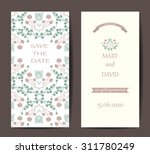 vintage card or wedding... | Shutterstock .eps vector #311780249