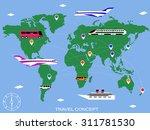 travel concept background.... | Shutterstock .eps vector #311781530