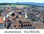 Porrentruy town in the canton Jura, Switzerland