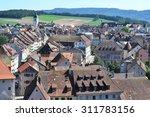 Porrentruy town in the canton Jura, Switzerland
