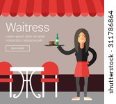 profession people. waitress.... | Shutterstock .eps vector #311786864