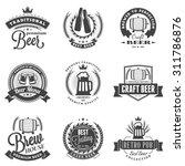set of retro vintage beer... | Shutterstock .eps vector #311786876