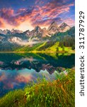 Colorful Summer Sunrise On The...