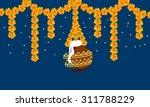 krishna janmashtmi   Shutterstock .eps vector #311788229
