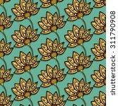 seamless floral pattern. hand...   Shutterstock .eps vector #311790908