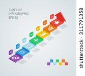 isometric timeline infographic... | Shutterstock .eps vector #311791358