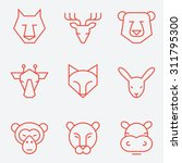 animal icons  thin line style ... | Shutterstock .eps vector #311795300