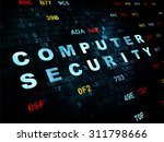 protection concept  pixelated... | Shutterstock . vector #311798666