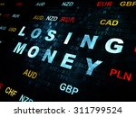 currency concept  pixelated... | Shutterstock . vector #311799524