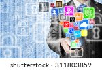business man using smart phone... | Shutterstock . vector #311803859