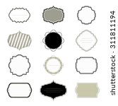 vintage frames set. vector... | Shutterstock .eps vector #311811194