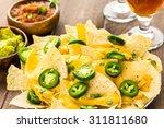 Vegetarian Nachos With Tortill...