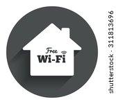 home wifi sign. wifi symbol....